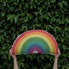 Rainbow Pillow in th