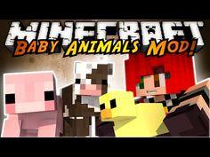 Minecraft Mod Showcase : THE BABY ANIMALS MOD! - YouTube