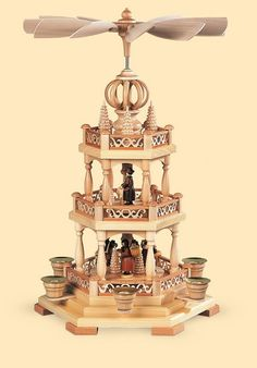 2-tier christmas pyramid - Forest scene - 45 cm / 18 inch $378