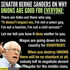 Acerbic Politics: Bernie Sanders is running for President Sen Bernie Sanders, Bernie Sanders For President, Labor Union, Show Me The Money, Running For President, Working Class, In This World, Presidents, Told You So