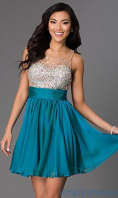 Short Sleeveless JVN by Jovani Dress at SimplyDresses.com