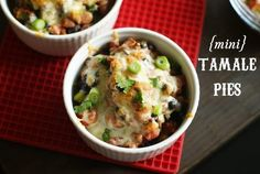 Bake at 350 goes savory: Mini Tamale Pies...and they're light, too!