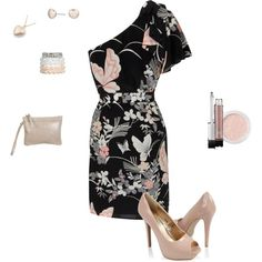 Urban bliss black lace dip hem dress