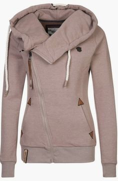 Adorable Comfy and Cozy light grey hoodie. I. Must. Have. This.