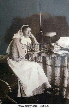 "Grand Duchess Olga Alexandrovna Romanova of Russia as a nurse during WWI.    ""AL"""