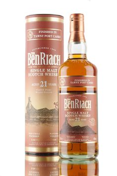 New for the second part of 2016 we have this new wood finish release from BenRiach distillery. Bottled in limited numbers, this Speyside single malt Scotch whisky has been aged for 21 years and finished in casks that previously held the finest of Tawny Port.