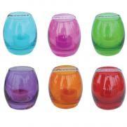 Candy lasi tuikulla, eri värejä 1,50 €/näitä tarvittaisiin ainakin viisi kappaletta, väri vapaa (tokmannillakin näitä myynnissä)
