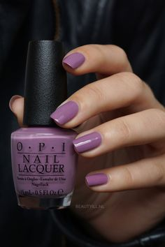 Creamy medium lavender nail polish - OPI & Heckla of a Color& - Nails - Opi Nail Polish Colors, Purple Nail Polish, Opi Nails, Purple Nails, Manicures, Opi Polish, One Color Nails, Lavender Nail Polish, Lavender Nails