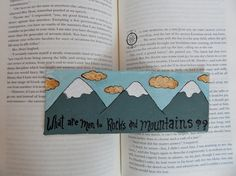 Painted Bookmark // What Are Men to Rocks and Mountains // Jane Austen // Read // Gift for Book Lovers