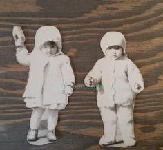 Vintage Photos..Cut Out Cuties..1930's Original Photos, Old Photo Snapshot, Artistic Altered Art, Mixed Media, Strange Odd, Paper Ephemera by iloveyoumorephotos on Etsy