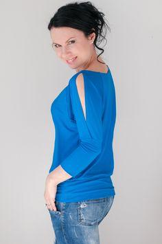 Li-La tričko Barevná jarní novinka ... One Shoulder, Blouse, Tops, Women, Fashion, Blouse Band, Moda, Women's, La Mode