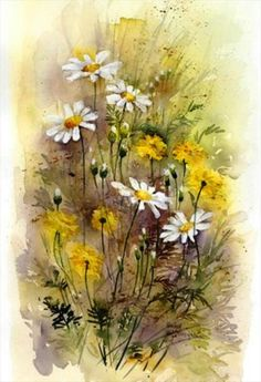 "Watercolor painting ""Red Tulips"" by Julia Kirilina"