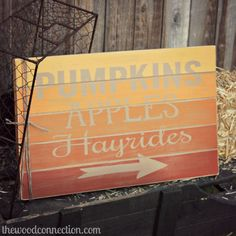 Ombre Fall Pallet Sign - The Wood Connection Blog