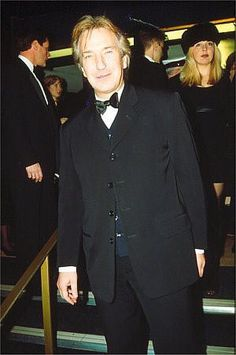 "February 21, 1996 - Alan Rickman at the ""Sense and Sensibility"" London premiere."