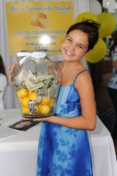 Bailee Madison hosts her own Lemonade stand in Florida, raising money for Alex's Lemonade Stand Foundation, to help fight childhood cancer. Bailee serves as their National Spokesperson.