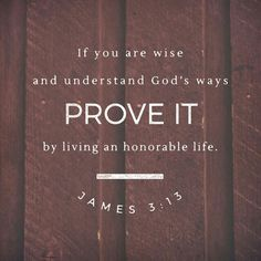 Who is wise and understanding among you? By his good conduct let him show his works in the meekness of wisdom.  James 3:13 ESV  http://bible.com/59/jas.3.13.ESV