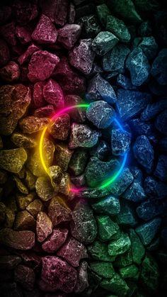RGB Neon Stones - iPhone Wallpapers