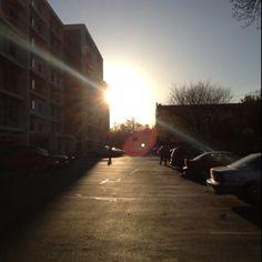Regent parking lot, Madison WI 3/25/12