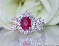 Rubin Brillanten Diamanten Ring