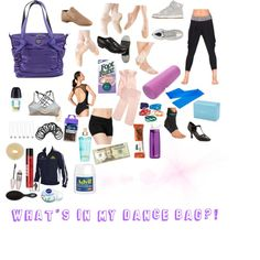 WHATS IN MY DANCE BAG? on Polyvore featuring polyvore, beauty, Maybelline, Nivea, Sexy Hair, John Lewis, Goody, lululemon, NIKE, Gaiam, Capezio, Rubz and OPTIONS