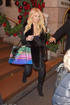 Hard to miss: Jessica simpson wasn't finished showing off her impressively toned legs, as ...