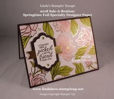 Simply Sunday: Springtime Foil Specialty Paper / #Beautiful #Bouquet  www.lindaluvs.stampinup.net