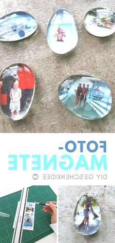 Design your own photo magnets: Fast DIY photo gift - Geschenk ideen - Diy fridge magnets tinker: Simple handicraft instructions to create your own photo magnet. Baby Footprint Art, Diy Foto, Baby Footprints, Photo Magnets, Craft Tutorials, Design Your Own, Handicraft, Creative, Easy Diy