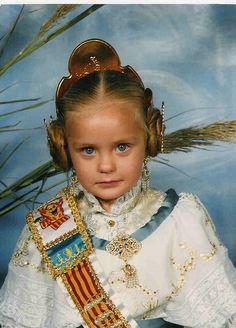 """Lorena_F as a Fallera (Valencian traditional costume)"" by jedi_princess_elan Little Girl Dresses, Little Girls, Girls Dresses, Traditional Dresses, Traditional Art, Jedi Princess, Art Populaire, Kids Study, Old Dresses"