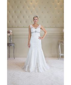 A vintage inspired lace bridal gown for only £395 from .Lechelles Bridal   #vintage #bridetobe #huntmydress