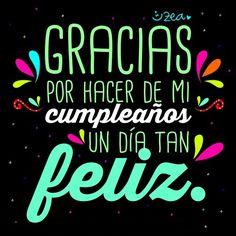 Cumpleaños... gracias