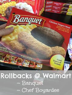 GREAT prices on Banquet and Chef Boyardee rollback at Walmart low prices are here in January and February. Check out these meals for under a dollar each!
