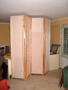 6 ft. Tall Frameless Bamboo Room Divider - Black (6 Panels) | Room ...