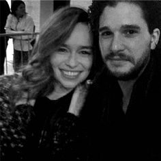 my first work and it's Kit And Emilia, Broken Song, Game Of Thrones Poster, Game Of Thones, Kit Harrington, I Love Games, Game Of Thrones Houses, King In The North, Emilia Clarke