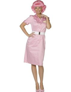 This sexy Grease Frenchy Costume Includes dress with belt