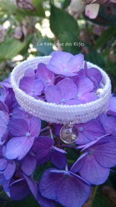 """MARIAGE / CADEAU ORIGINAL BRACELET MANCHETTE ENROULÉE """"BLANCHE"""" : Bracelet par la-fabrique-des-elfes"""