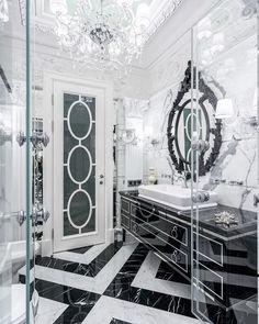 400 отметок «Нравится», 5 комментариев — Дизайн ИНТЕРЬЕРА Архитектура (@wwwsushkowru) в Instagram: «Из портфолио. Интерьер ванной комнаты задумывался строгим, но при этом элегантным и нарядным.…»