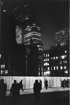 Construction site, Madison Avenue, 1947, by Louis Faurer