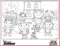 Disney Junior Henry Hugglemonster Coloring Pages