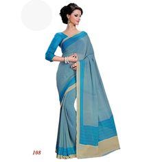 Wedding Wear Georgette Blue Saree - RKAM108