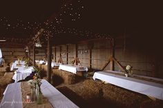 Barn Weddings from rusticweddingchic.com This would work in our open sided Barn too!