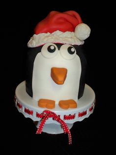Christmas Penguin Cake, isn't he the cutest!
