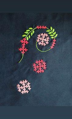 Cross Stitch Kit, DIY Needlework Handmade Embroidery Home Room Decor - Embroidery Design Guide Cushion Embroidery, Embroidery Works, Embroidery Motifs, Learn Embroidery, Hand Embroidery Designs, Embroidery Patterns, Embroidery Saree, Floral Embroidery, Kutch Work Saree