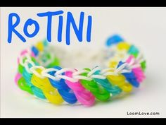 Rainbow Loom ROTINI Bracelet. Designed and loomed by Emily at Loom Love. Click photo for YouTube tutorial. 06/23/14.