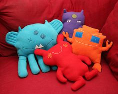 Ugly Doll Tutorial - with several pictures of different ideas