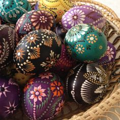 Easter eggs decorated by Mrs. Marija Banikonienė