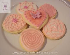 pink circle biscuits Biscuits by Sugar and Icing Cakes Birmingham: Image