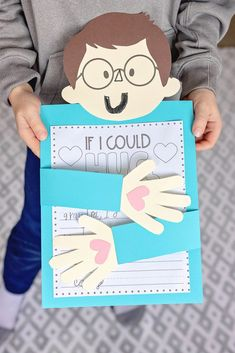 """The kiddos are missing their grandparents so we decided to make an """"If I Could Hug You"""" writing project. ️Our template includes two faces (with and without gla… Children's Day Craft, Diy Birthday Gifts For Mom, Grandparents Day Cards, Kids Hugging, International Children's Day, Art For Kids, Crafts For Kids, Kindergarten Themes, Fathers Day Crafts"""