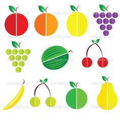 Sign of fruit vector silhouette — Stock Image Fruit Vector, Food Icons, White Background Images, Applique, Silhouette, Stock Photos, Signs, Packaging, Illustrations