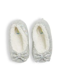 Capelli New York Faux Fur Lined Slippers  Grey