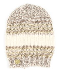 Look at this #zulilyfind! Taupe Unchained Beanie by Betsey Johnson #zulilyfinds